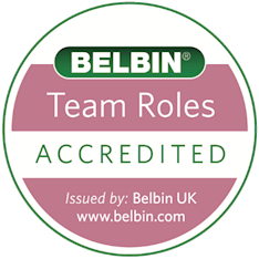Belbin Accreditation Logo to prove you are a Belbin expert!
